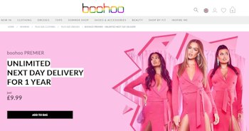 How to get free delivery at Boohoo.com
