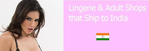 The best adult & lingerie shops with international shipping to India
